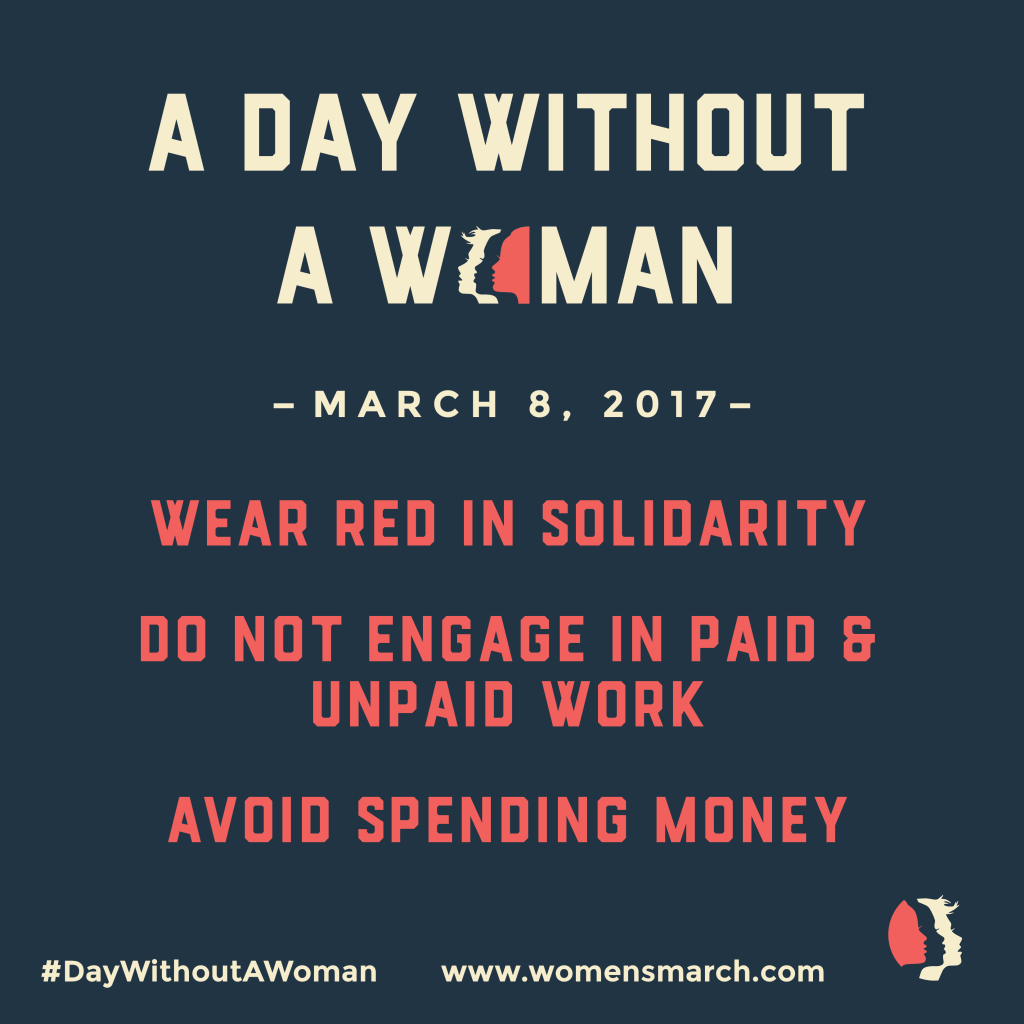 A Day Without A Woman Flyer