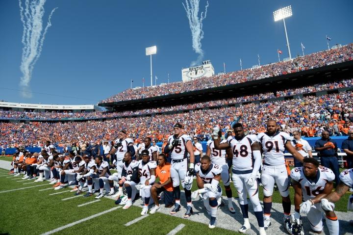 Denver Broncos versus the Buffalo Bills