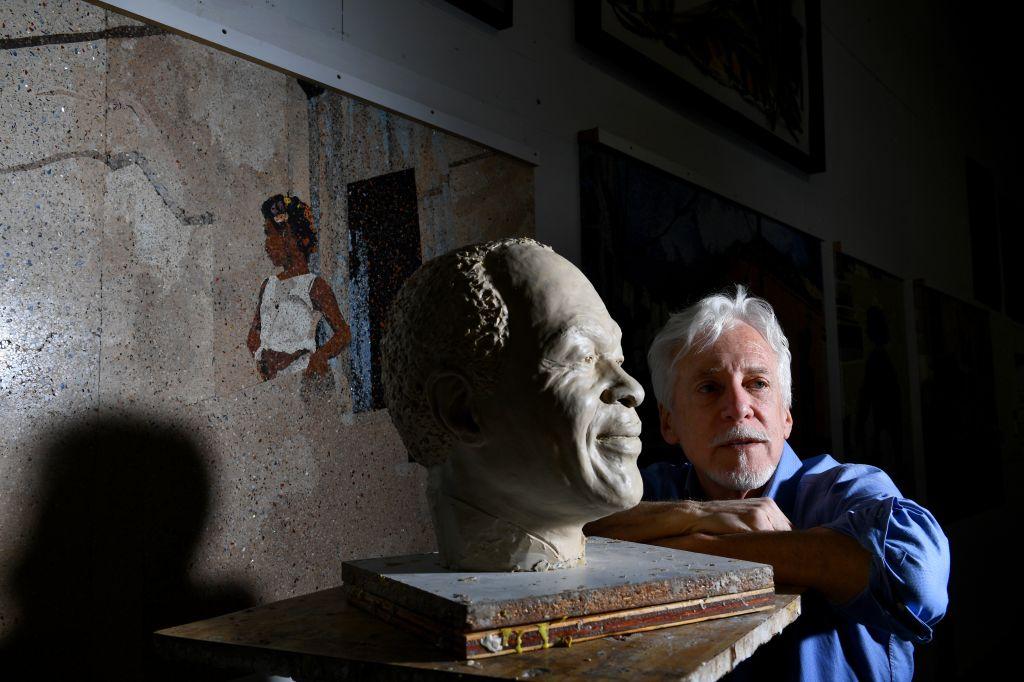 Steven Weitzman created statue of Marion Barry