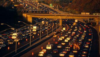 USA - Atlanta - Slow commuter traffic on the interstate