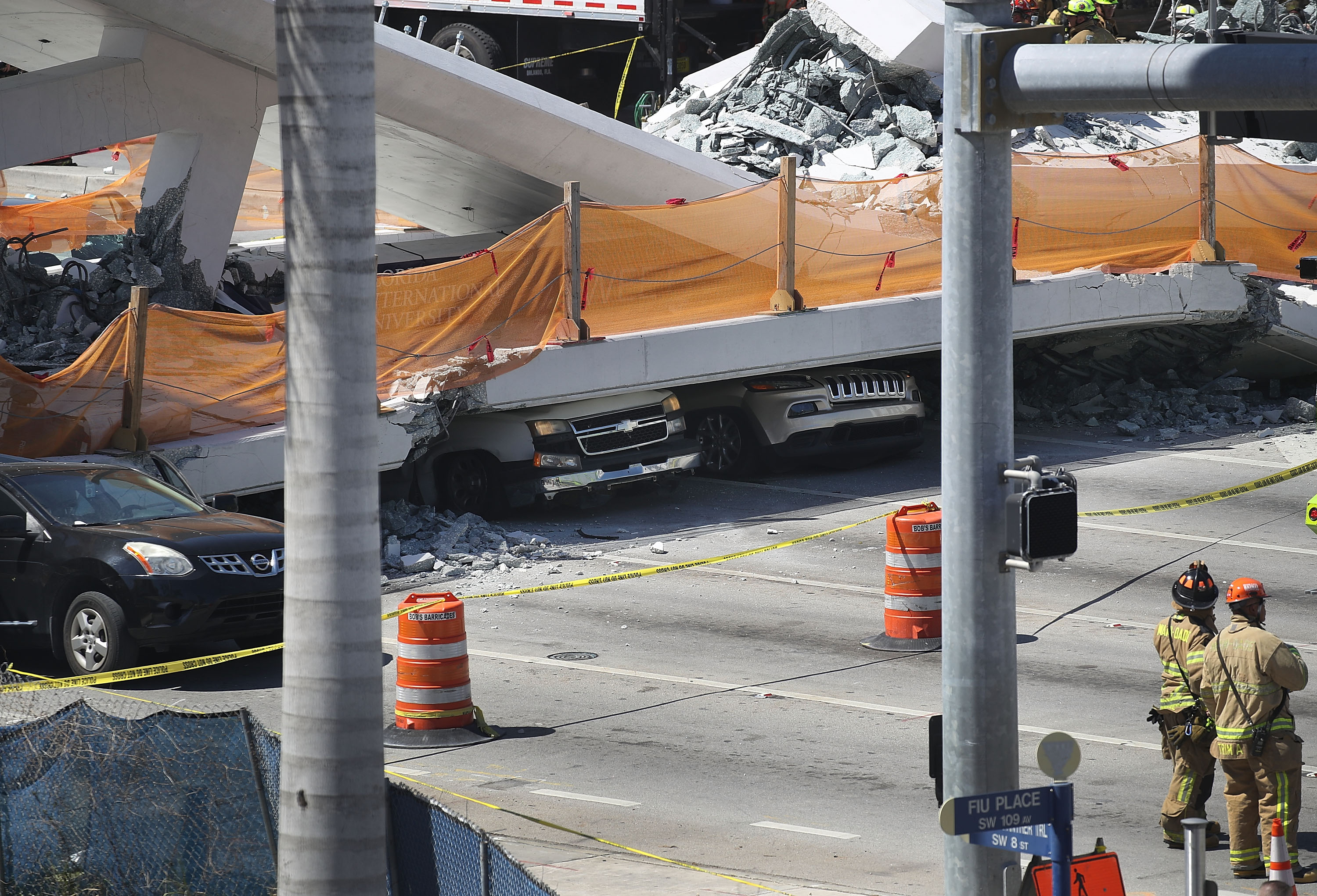 Multiple Fatalities Reported After Collapse Of Pedestrian Bridge In Miami