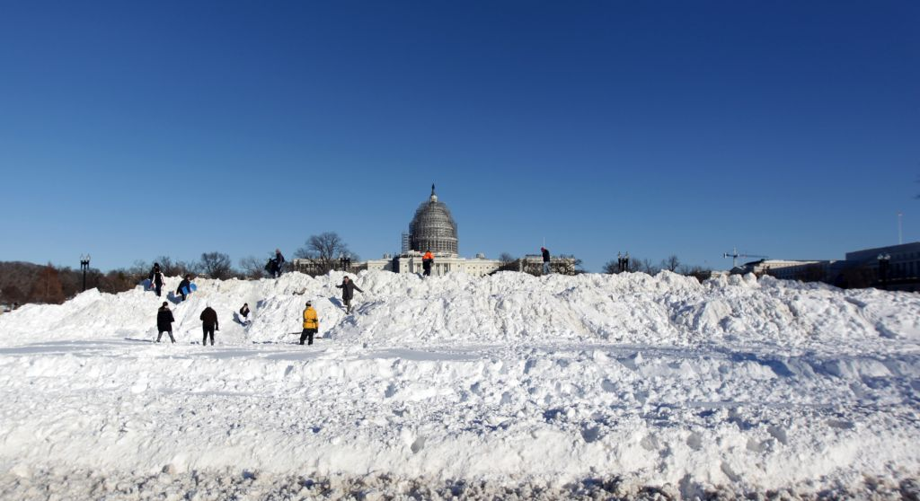 Day After Snowstorm In Washington D.C.