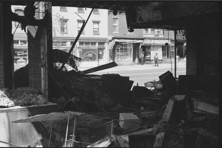 Riot-Damaged Store
