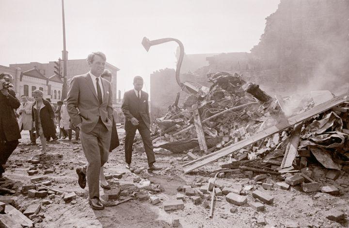 Robert F. Kennedy Visits Riot Scene in Washington DC