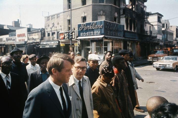 Robert Kennedy Touring Washington Neighborhood