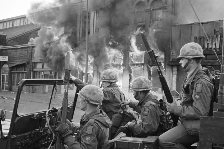Troops Patrol Washington, DC After Assassination of Martin Luther King