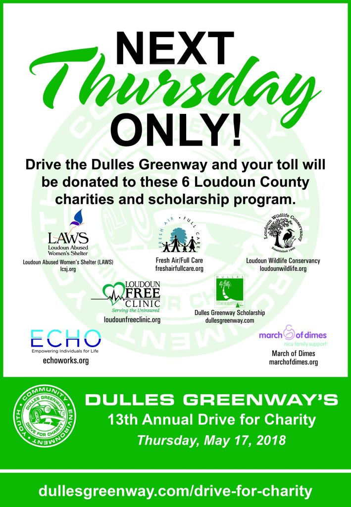 Dulles Greenway Drive For Charity