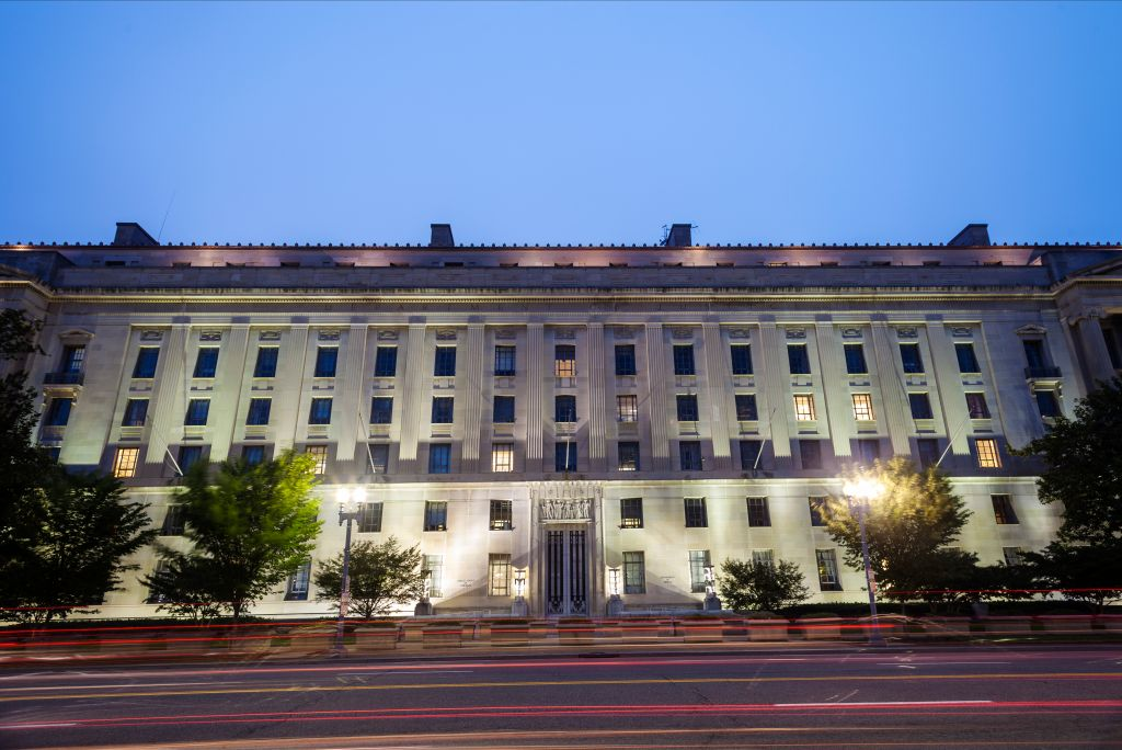 Department Of Justice at night