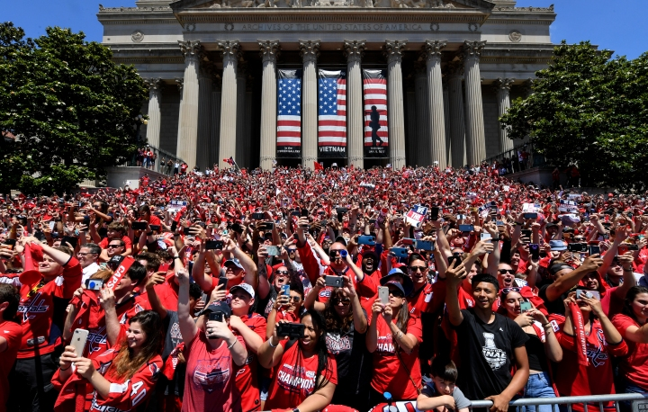 Parafe for NHL Stanley Cup Winners Washington Capitals