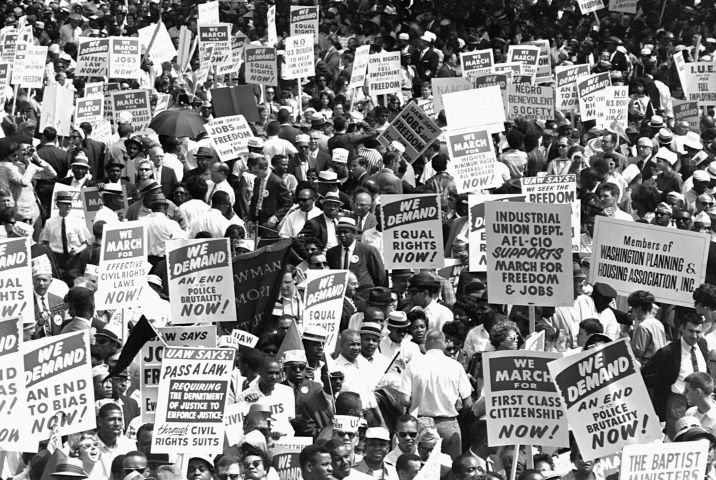Protesters at March on Washington