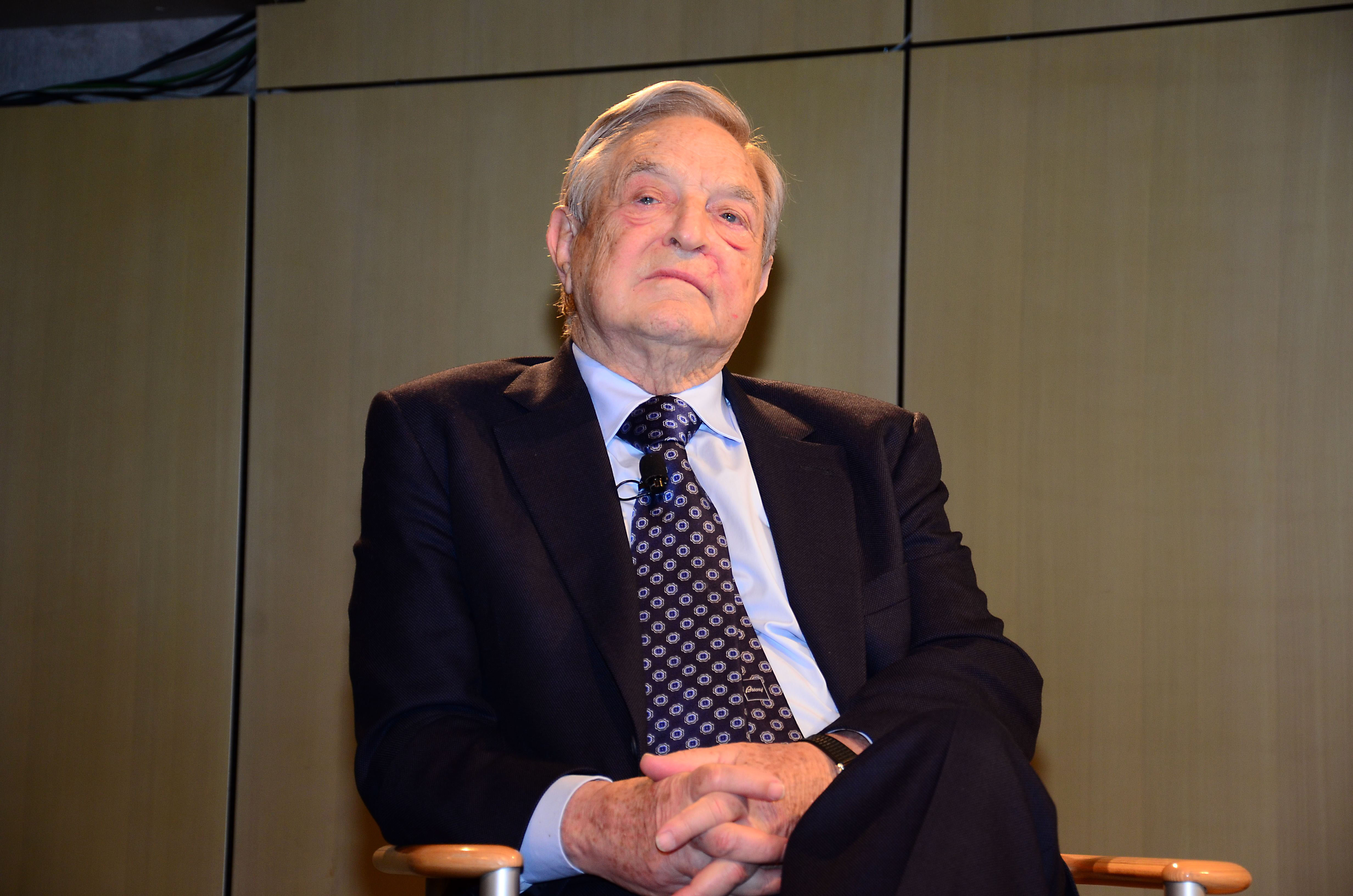 Empfang fuer George Soros in Berlin