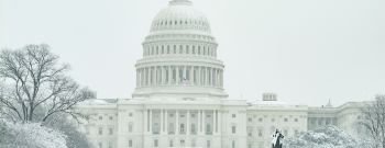 US Capital in the snow