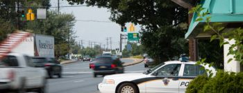 GAITHERSBURG, MD - OCTOBER 3: Montgomery County Maryland polic