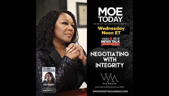 #MOEToday: Negotiate With Integrity